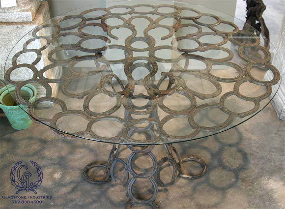 Custom Horse Shoe Table