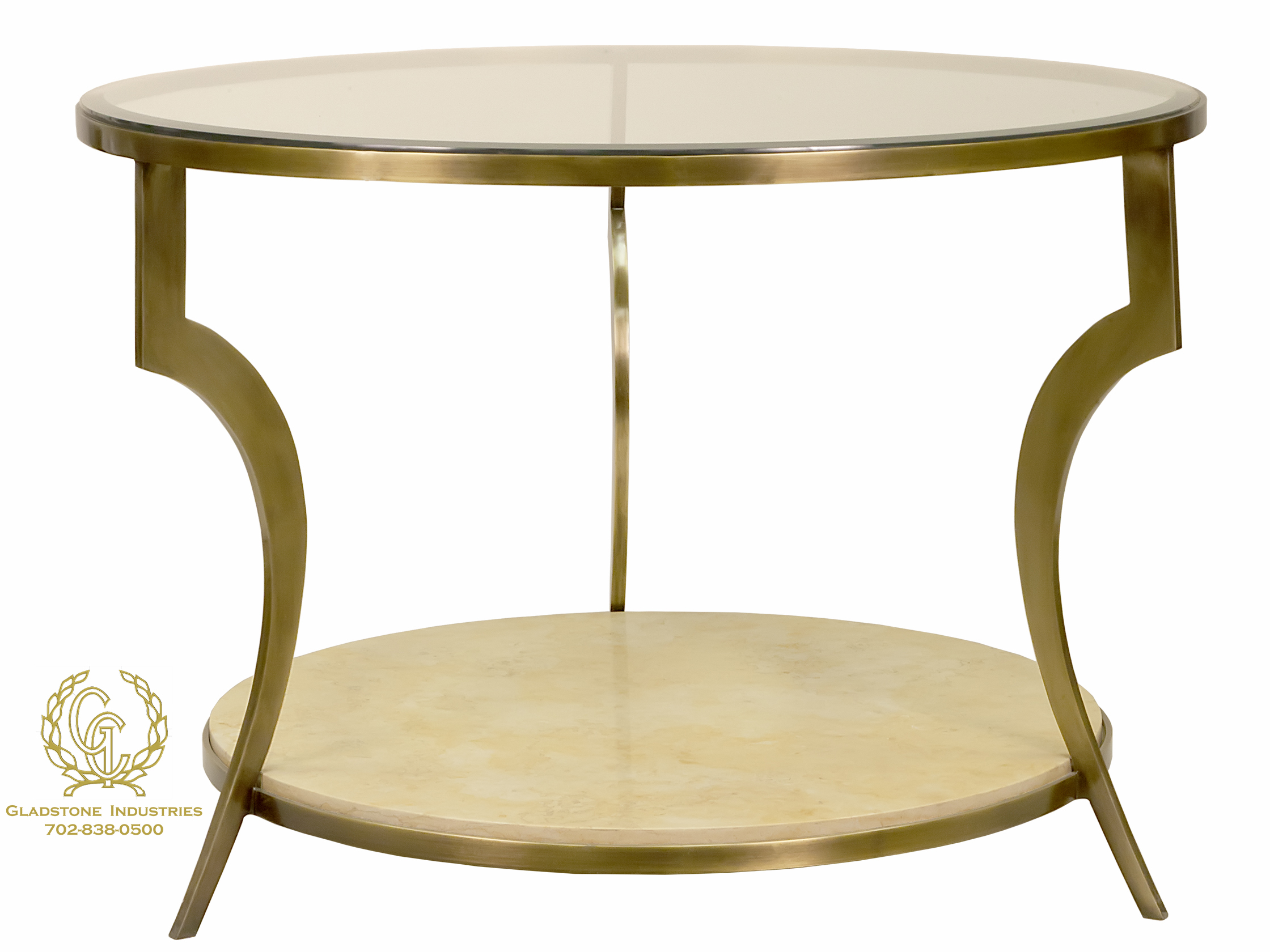 Custom Brass and Marble Table